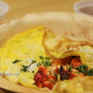Chicken Tikka Omelette - Pronto Kitchen, Mangalore