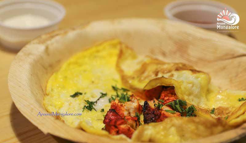 Chicken Tikka Omelette - Pronto Kitchen, Mangalore