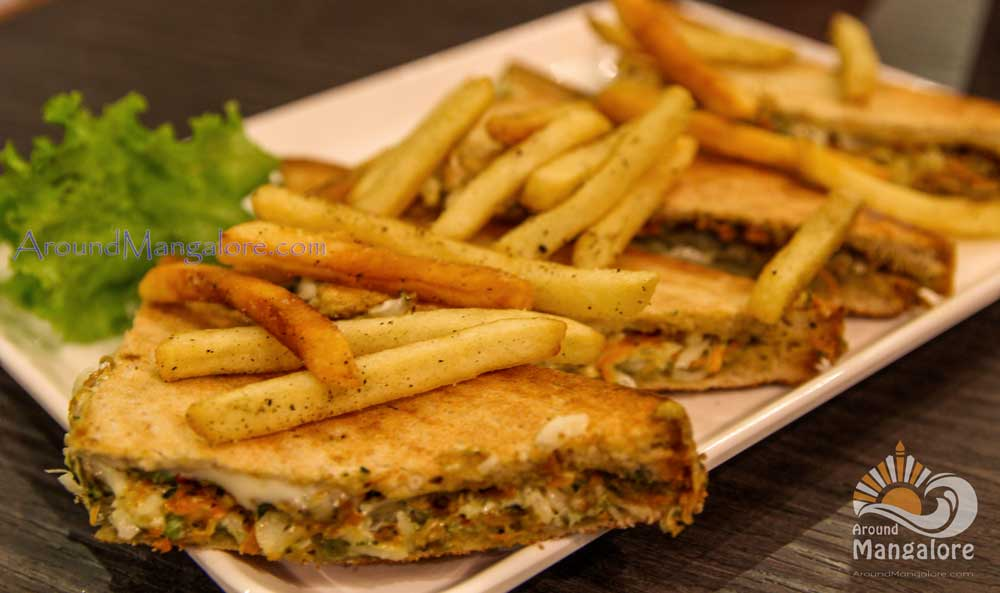 French Veg Sandwich - Brick House - Restaurant - Falnir, Mangalore
