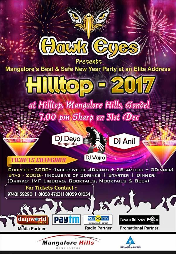 Hilltop 2017 - 31 Dec 2016 - Mangalore Hills, Bondel, Mangalore