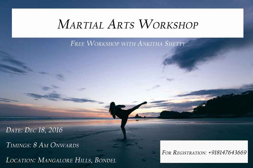 Martial Arts Workshop By Ankitha Shetty - 18 Dec 2016