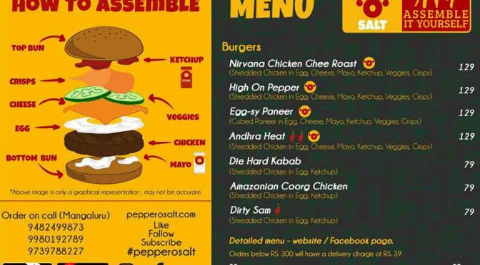 Pepper O Salt – AIY – Assemble It Yourself – Burgers