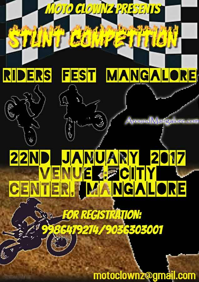 Moto Clownz Presents - Stunt Competition - 22 Jan 2017 - City Centre, Mangalore