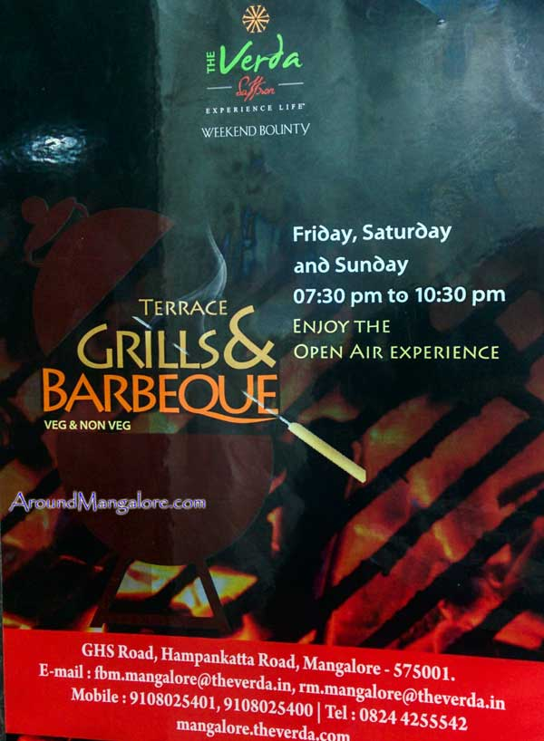 Terrace Grills & Barbeque - Spice Roof Top Restaurant - The Verda - Saffaron - Hampankatta, Mangalore