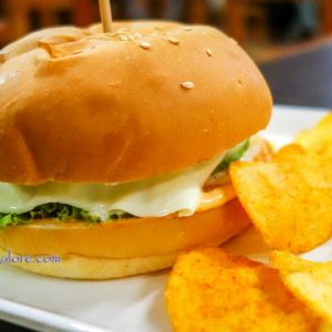 Veg Burger - Brick House, Mangalore