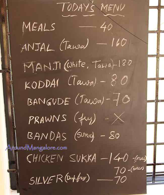 Food Menu - Fish Chowki – Sea Food Restaurant - Kottara Chowki, Mangalore