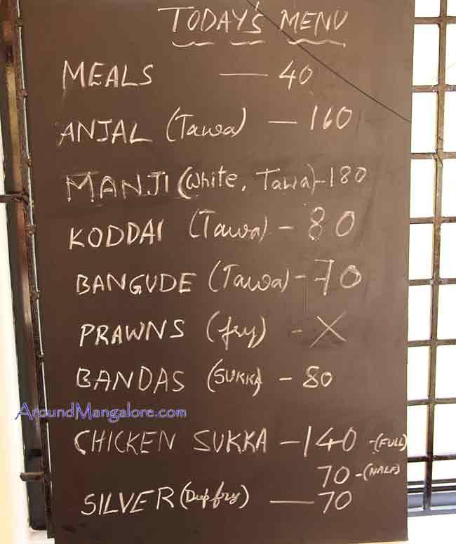 Food Menu Fish Chowki – Sea Food Restaurant Kottara Chowki Mangalore - Fish Chowki - Sea Food Restaurant
