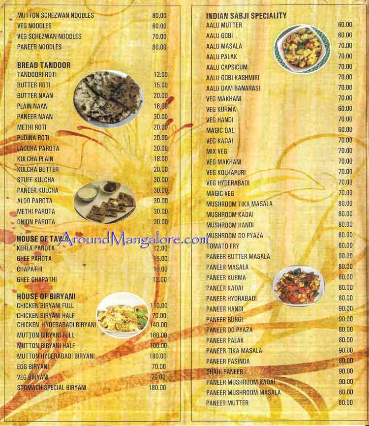 Food Menu - Stomach Food Cafe - Surathkal NITK, Mangalore