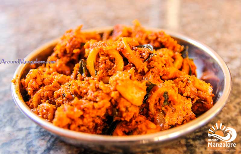 Squid, Bonadas - Fish Chowki – Sea Food Restaurant - Kottara Chowki, Mangalore