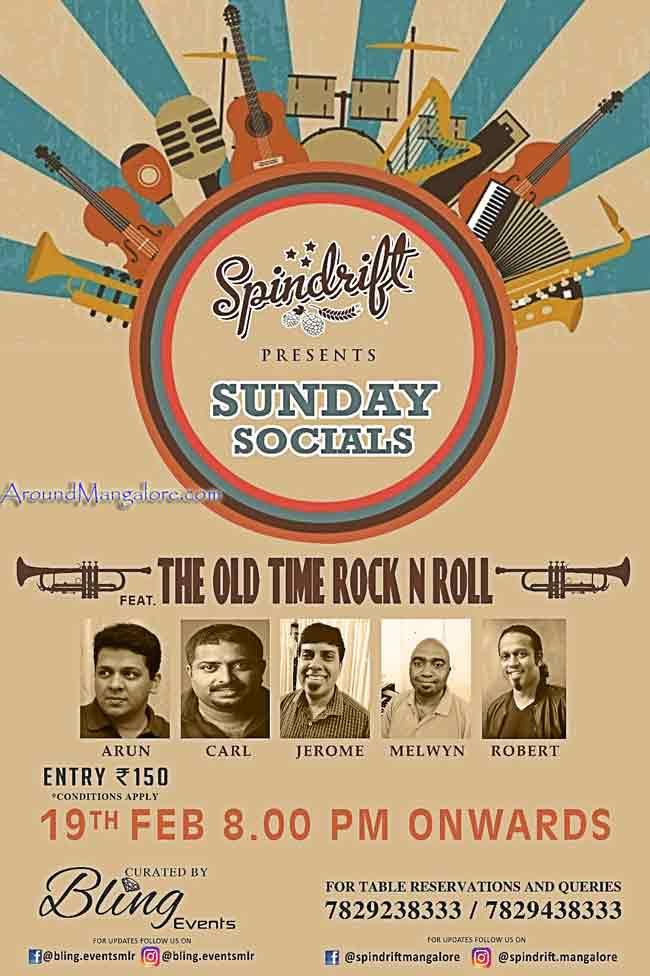 Sunday Socials - 19 Feb 2017 - Spindrift, Mangalore