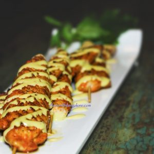 Harissa Chicken Skewers - The Last Stop Lounge, Mangalore