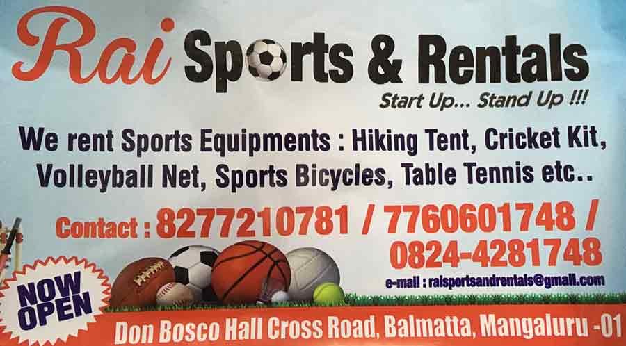 Rai Sports & Rentals, Mangalore
