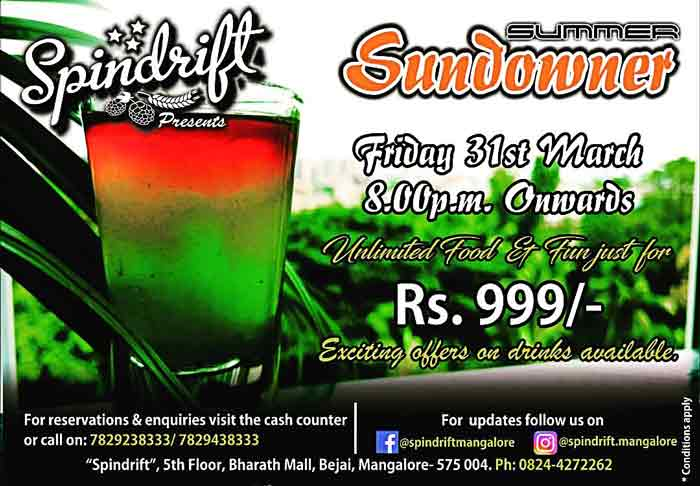Summer Sundowner - 31 Mar 2017 - Spindrift
