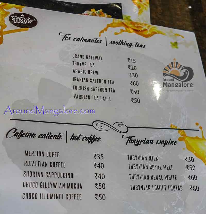 Food Menu - Donut Magic - Thryvs cafe, Mangalore