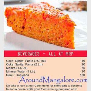 Food Menu - Village On Wheels - Village Restaurant, Mangalore