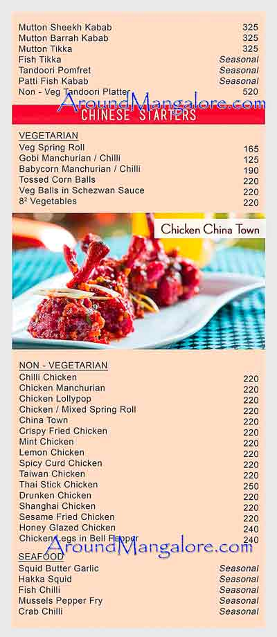Food Menu - Village On Wheels - Village Restaurant, Mangalore