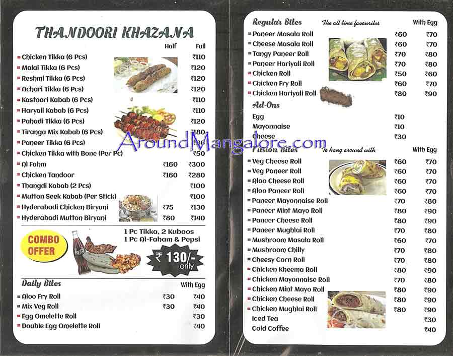 Food Menu - Wrap n Roll - Balmatta Road, Mangalore