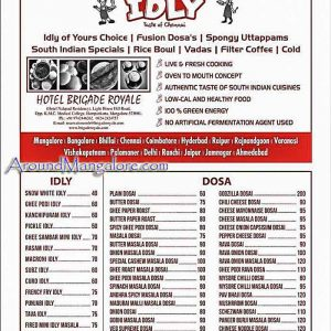 Mr & Mrs Idly - Hotel Brigade Royale, Light House Hill Road, Hampankatta, Mangalore