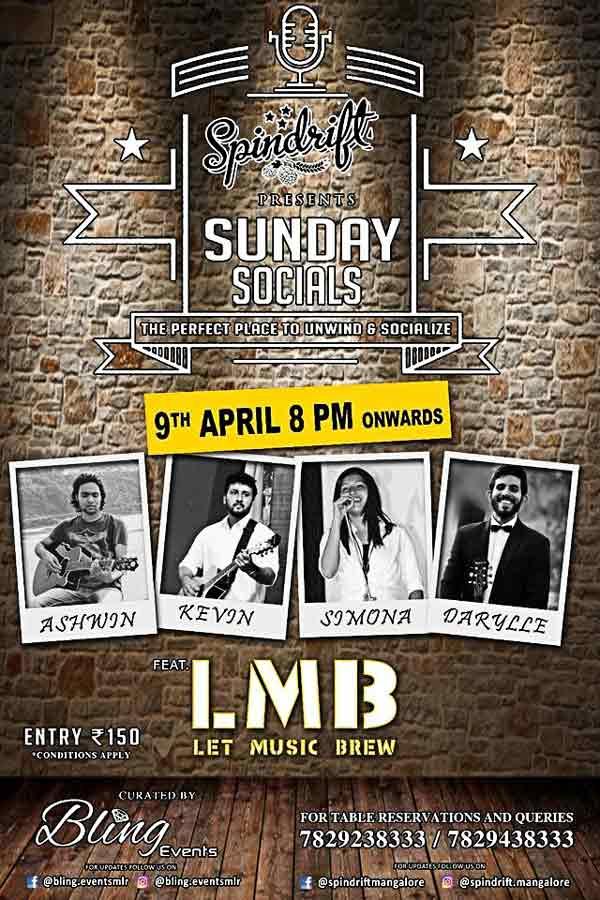 Sunday Socials - 09 Apr 2017 - Spindrift, Mangalore