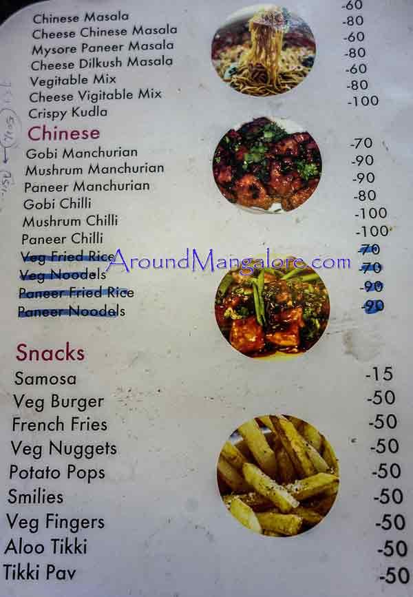 Food Menu - Desert Cream Parlour - Kodialbail, Mangalore