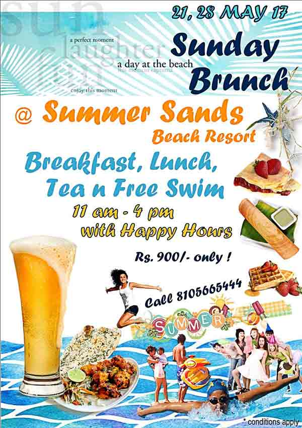 Sunday Brunch - May 2017 - Summer Sands, Mangalore