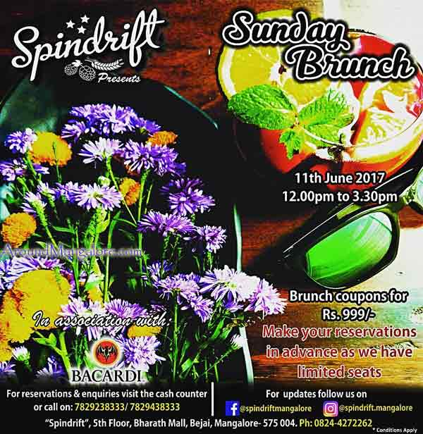Sunday Brunch - 11 Jun 2017 - Spindrift, Mangalore