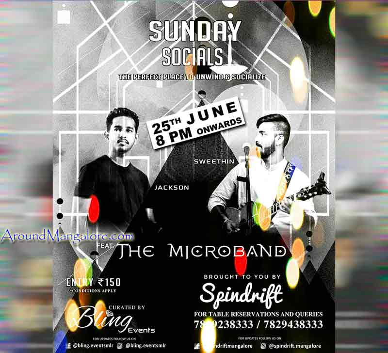 Sunday Socials - 25 Jun 2017 - Spindrift, Mangalore