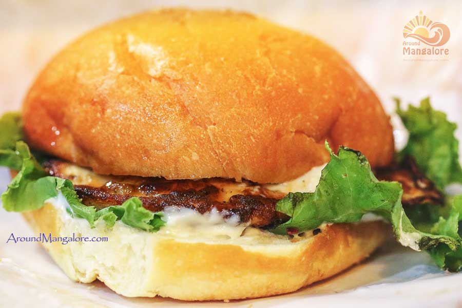 Chicken Steak Burger - Burger Lounge - Mangalore