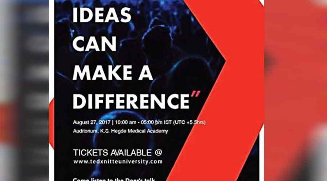 Simple Ideas Can Make A Difference - 27 Aug 2017 - TEDx Nitte University