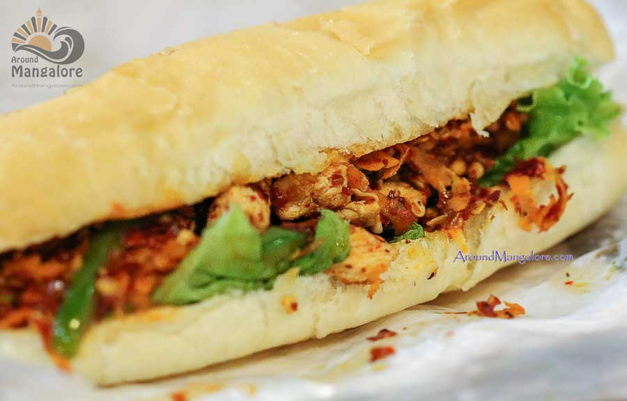 Smoked Chicken Sandwich - Burger Lounge - Mangalore