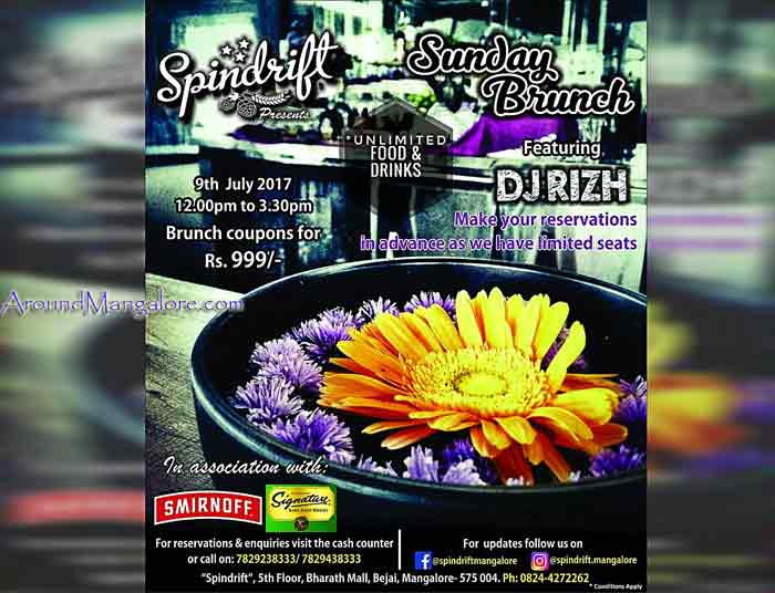 Sunday Brunch - 09 Jul 2017 - Spindrift, Mangalore