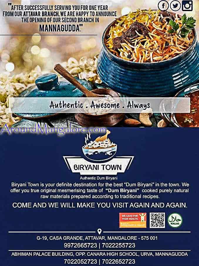 Food Menu - Biryani Town - Mangalore