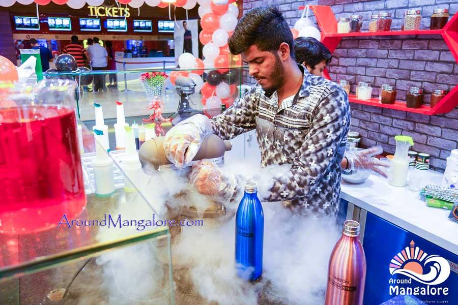 Liquid Nitrogen Ice Cream NIICE Cream Forum Fiza Mall Mangalore - NIICE Cream - Forum Fiza Mall