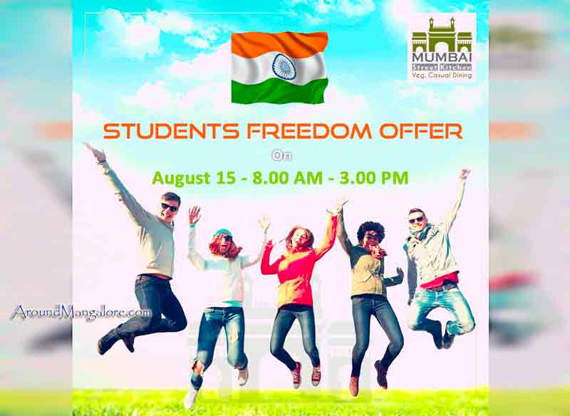 Students Freedom Offer - 15 Aug 2017 - Mumbai Street Kitchen, Mangalore