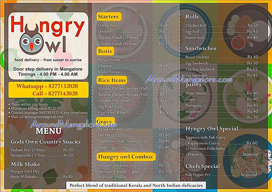 Hungry Owl - Food delivery in Mangalore