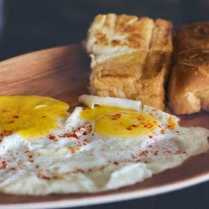 Pav with Sunny Side Up - Chai – Eat – Cafe, Attavar, Mangalore