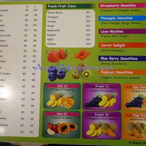Food Menu - Teaze n Treatz - Divya Enclave, M G Road, Mangalore
