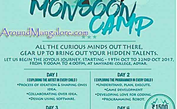 Monsoon Camp - 19 to 22 Oct 2017 - Sahyadri College, Adyar, Mangalore - Event