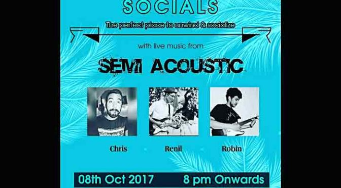 Sunday Socials - 8 Oct 2017 - Spindrift, Mangalore On 8 Oct 2017 @ 8PM Onwards Venue: Spindrift, Mangalore