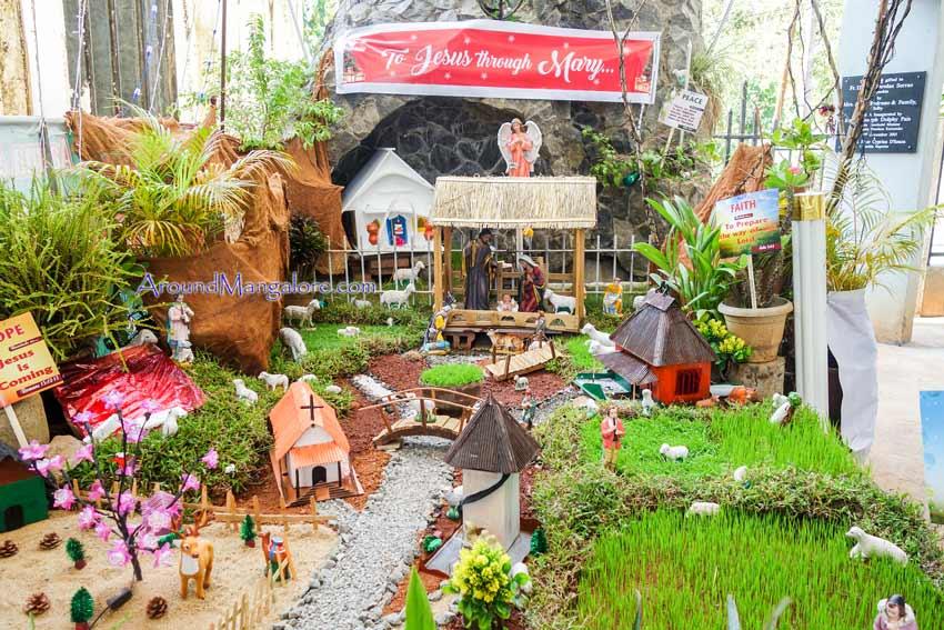 Capuchin Franciscans, Bejai, Mangalore - Christmas Crib 2017