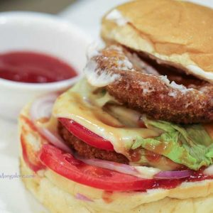 Chicken Double Decker Burger - DRNK Lab - Light House Hill Road, Hampankatta, Mangalore