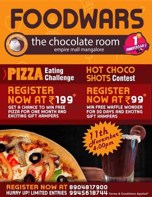The Chocolate Room Menu Mangalore