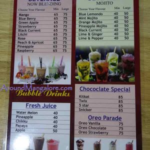 Food Menu - Cream Shack – Ice Cream Parlour - Bendoor, Mangalore