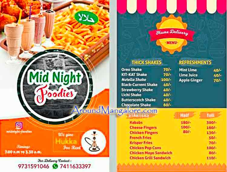 Mid-Night Foodies - Food Delivery Service in Mangalore