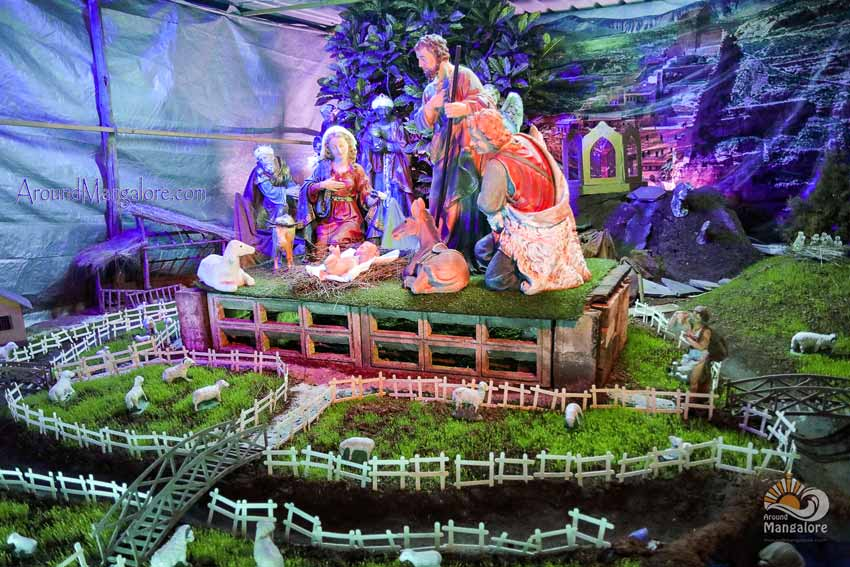 Rosario Cathedral (aka Rosario Church), Mangalore - Christmas Crib 2017