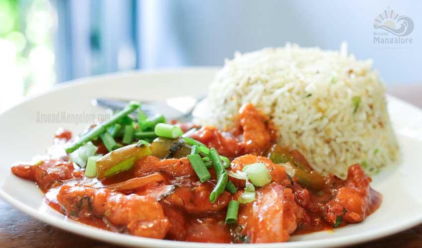 Basil Chilly Chicken - Basil Cafe - Bejai, Mangalore