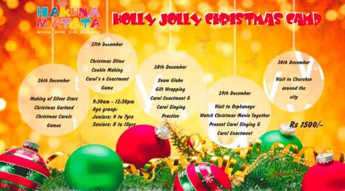 Holly Jolly Christmas Camp - 26 to 30 Dec 2017 - Hakuna Matata, Mangalore