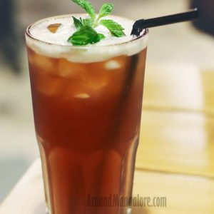 Peach Iced Tea - Onesta (Pizzeria) - Mak Mall, Kankanady, Mangalore
