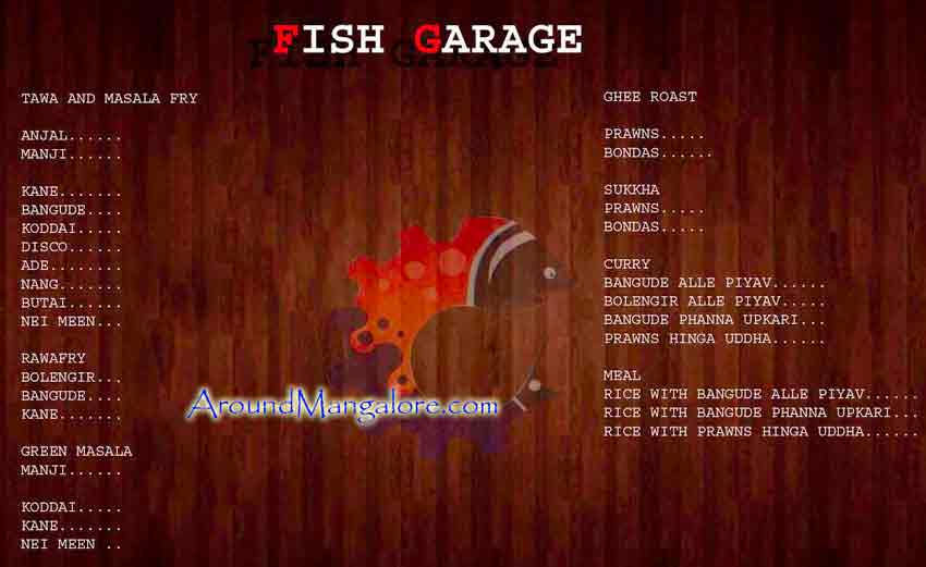 Food-Menu---Fish Garage - Sea Food Restaurant - Chilimbi, Mangalore