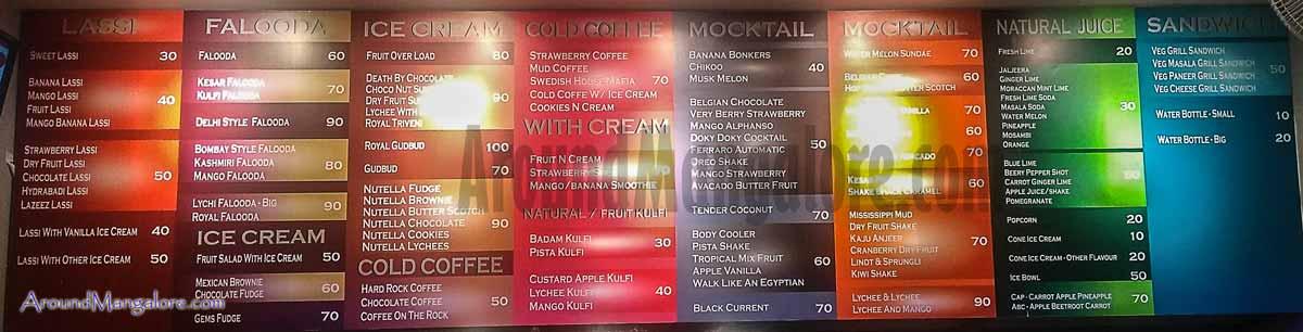 Food Menu - Lassi Ghar - Karangalpady, Mangalore